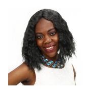 Royal-First Glueless Short Bob Wavy Brazilian Virgin Human Hair Lace Wigs for Women 130% Density Medium Size Cap
