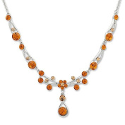 Women's Till Mountaineering Necklace with Crystals – Elegant Women's Necklace Neck Chain Topaz Crystals TOPAZ 5380