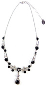 Till Mountaineering Crystals Necklace with Crystals Women's Necklace – Elegant Women's Necklace Neck Chain Black 5377