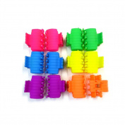 rougecaramel – Neon – Small Crab Hair Clip Hair Accessories 2.8 cm 12 Pieces – Assorted Colours