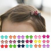 40pcs bangs mini hair claw clip Little Girls Flower Hair Pin Random Assorted coloured