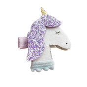 Gemini_mall® Girls Cute Shining Unicorn Hair Clip Hairpin Barrette Headdress Glitter Hair Accessory