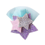 Gemini_mall® Girls Cute Shining Star Hair Clip Hairpin Barrette Headdress Glitter Hair Accessory