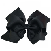 prelikes 1Pc Girls Large Double Layers Hairbow Grosgrain Ribbon Clip Hairpin