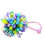 prelikes Baby Girls Cute Korean Hair Clip Hairwear Side Clip Rubber Band Hair Ring