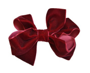 PrettyBoutique 13cm Large Velvet Ribbon Hair Bow Alligator Clip
