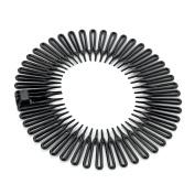 Pair of Black Flexi Combs Hair Bands Sports Headbands