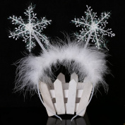 cuhair 1pc Christmas Feather Snowflake Headband Hair Band Hair Hoop Hair Accessories For Women Girl