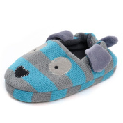 Estamico Toddler Boys' Blue Rubber Sole Anti-skid Winter Doggy Slippers UK 8-9