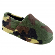 boys camo slippers full back foot coverings size 9-3