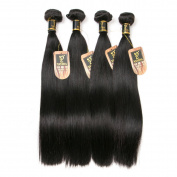 Yavida Peruvian Virgin Straight Hair Bundles 7A Grade Unprocessed Peruvian Human Hair Weft Natural Colour 400g Full Head