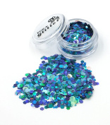 MERMAID GODDESS Chunky Festival Glitter mix FG12 - 5ml & 10ml Pots - Fully Cosmetic Grade Glitter for Festival Faces, Party Face and Body Make-up, Sparkling Glitter Hair and Nails