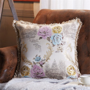 HJHET European Luxury Office sofa living room Printing pillow cushion cover (without core), 58*58cm, B