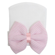 Kingken Adorable Large Bow Knit Sleeve Cap Baby Hat