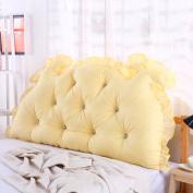 Solid colour Bedside Backrest Detachable All cotton Bedside Cushions Pillow