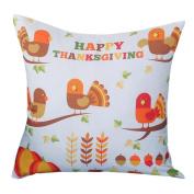 Xinantime Thanksgiving Linen Cotton Print Pillowcase Sofa Cushion Cover Home Decor