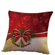 Christmas Decorations, Xinantime Linen Square Throw Flax Decorative Cushion Pillow Cover