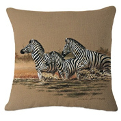 ZLYAYA Sofa Pillow,Cushion,Decorative Pillows,Throw Pillow,Watercolour Elephant Animal Nordic Pillow Cover Car Bedside Pillow Office Sofa Cushion Bay Window Back Cushion cover 45 * 45 without core