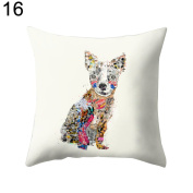 Nuohuilekeji Cute Animal Pattern Throw Pillow Case Sofa Bed Car Cushion Cover Home Decor