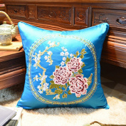 Embroidered flower pillowcase living room cushion covers-A 45x45cm