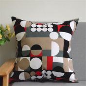 HJHET European Fashion linen sofa Pillow pillow pillowcases car pillow (without core), 60*60cm