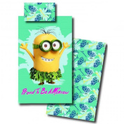 Despicable Me Minions Bedding 140x200 + 60x70 Children's Bedding Nursery Turquoise