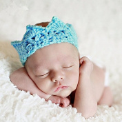 Kingken Fashion Handmade Newborn Baby Girl Boy Crochet Knit Crown Hat