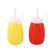 Kicode 1pc Plastic Sauce Vinegar Ketchup Squeeze Mustard Oil Bottle Kitchen Useful Dispenser 200mL