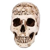 YanHoo Halloween Human Bonelike Skull Head Figurine Skeleton