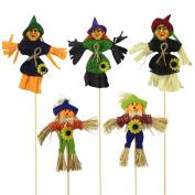 YanHoo HalloweenOrnamentsChildren Toys Rocker Witch Pumpkin Halloween Scene Dress Up