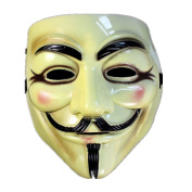 YanHoo Halloween Masquerade Face Mask For Vendetta Fawkes Fancy Dress Party