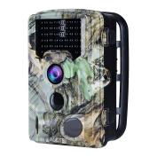 "AUCEE Tracker Trail Camera 16MP 1080P HD 120Degree PIR Sensor Hunting Camera 46pcs IR LEDs Infrared Game Camera,Wildlife Camera IP56 Spray Water Protected Design 2.4""LCD Display 0.2s Trigger Time"
