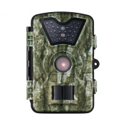 VicTsing HD Game & Trail Wildlife Camera with with Infrared 24 Black LEDs 8MP 720P 6.1cm LCD Screen IP66 Waterproof Night Vision Hunting Scouting Surveillance Camera - Never Scare the Animals