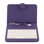 Cewaal PU Leather Stand Case Smart Keyboard Case MINI Micro USB Keyboard Case for 18cm Tablet PC