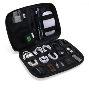 BAGSMART Small Travel Electronics Cable Organiser Bag for Hard Drives, Cables, USB Cable, SD Card