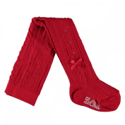 Le Chic Baby Girls' Tights red Red Crimson One size