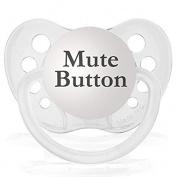 Personalised Pacifiers Mute Button Clear Transparent Slogan Dummy Pacifier