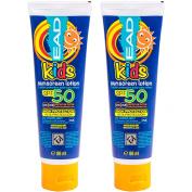 2x High Protection Kids SPF Factor 50 Sun Cream Tubes - Children's 88ml Screen Lotion Blocks