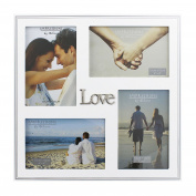 Juliana MDF Multi Aperture Wedding Frame - 'Love'