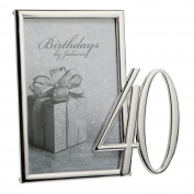 Birthdays by Juliana Silverplated Photo Frame 10cm x 15cm - 40