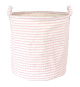 JABA Dabado Pink Nursery Storage Basket Fabric