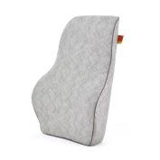 MIAO Car Lumbar - Memory Cotton Linen Ice Silk Lumbar Pillow, Breathable Car Seat Back