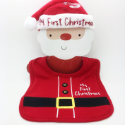 Swan household ® - My First Christmas - Bib and Hat Santa Outfit - For New Born Baby