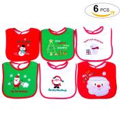 Christmas Bib, Fascigirl Christmas Baby Bib Cute Xmas Cartoon Baby Bib Cotton Bib for Toddler