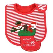 Christmas Bib, Fascigirl Snowman Santa Elk Pattern Christmas Baby Bib Cotton Cute Bib for Baby