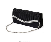 EWFSEF Lady's Evening Handbag Clutch Bag Shoulder Chain Rhinestone Satin