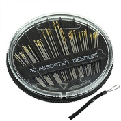Cosanter Needle and Case 30PCS Assorted Hand Sewing Needles Embroidery Mending Craft Quilt Sew Case