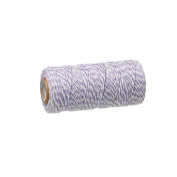 creafirm – Baker's Twine 100 m Spool String Style Purple and White