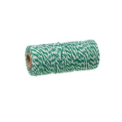 creafirm – Baker's Twine 100 m Spool String Style Green and White