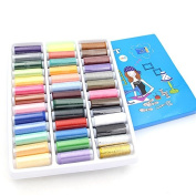 Home-organiser Tech 39 Assorted Colour 200 Yards Per Unit Polyester Sewing Thread Spool Set